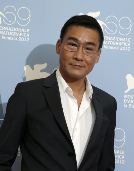 "Hong Kong actor Tony Leung Ka Fai poses during the photocall for the movie ""Tai Chi O"" at the 69th Venice Film Festival"